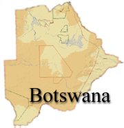 Map of Botswana - click for full display
