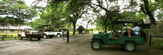 Meeting point Hwange Main Camp