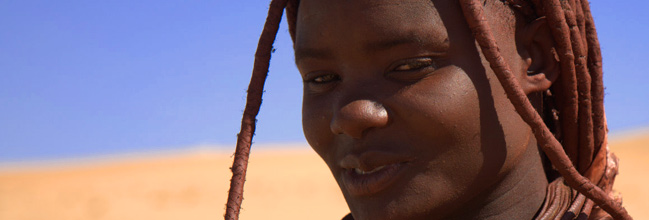 A local tribe, the Himba