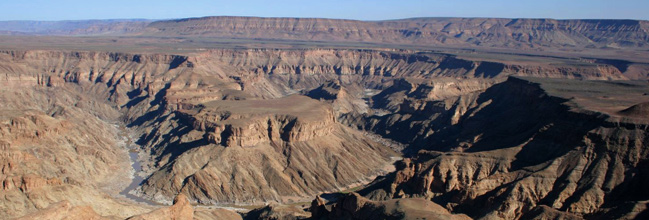 A view of Fish River Canyon from the air