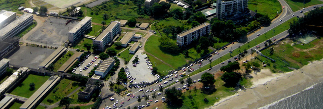An aerial view of Libreville