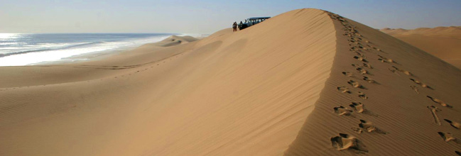 Waves and sand - the Skeleton Coast
