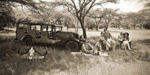 Calvin Cottar and family on safari