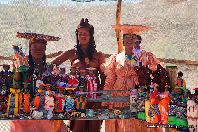 Herero and Himba ladies selling wares en route to Doro!Nawas courtesy Trish Berry