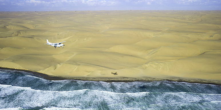 Flying safari down the Skeleton Coast by Dana Allen for Wilderness Safaris
