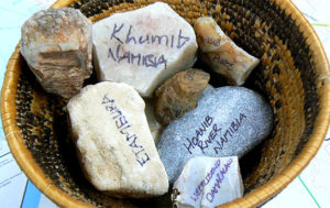 touchstones from rivers in Namibia