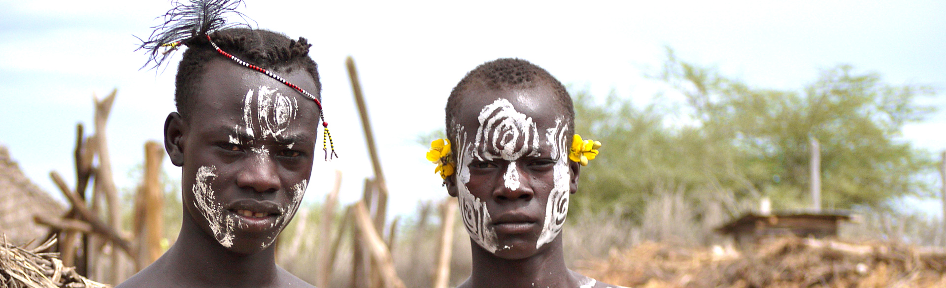 Omo valley men by Trish Berry