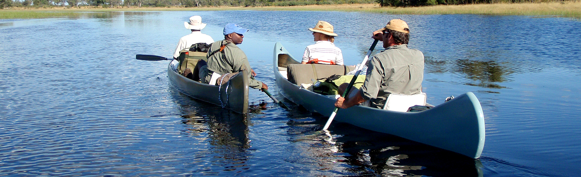 Canoeing the Selinda courtesy Great Plains Conservation