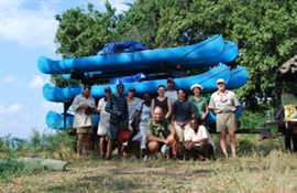 Day 10 - Paddle to the take-out point at Kanyemba (10km)
