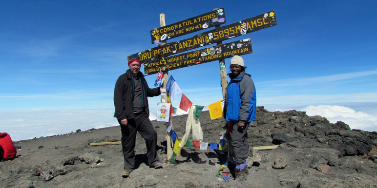 Mark and Jackie summit Kilimanjaro via Lemosho