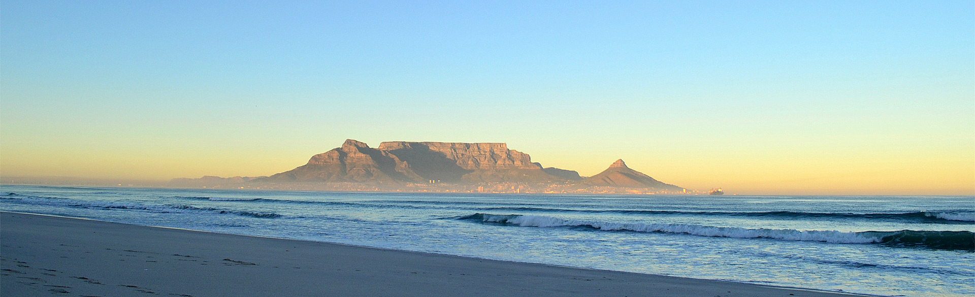 Table Mountain from Bloubergstrand by John Berry