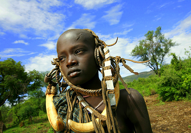 Mursi boy by Andy Richter courtesy Salem Alemayehu