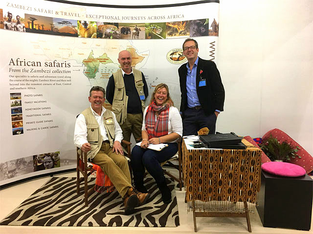 Team Zambezi in London - John Berry, Mark Pearson, Honour Schram de Jong, Rupert Finch Hatton