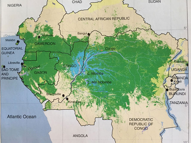 congo basin map